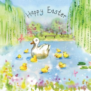 FIZ27 - Easter Card Ducklings